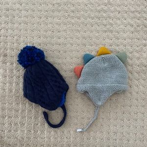 TWO Baby Boy Winter Hats (Cat & Jack)